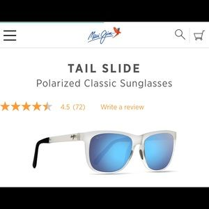 Maui Jim Tailslide in Frosted Crystal (AUTHENTIC)
